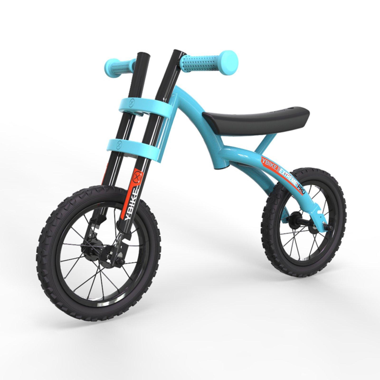 Ybike Session All-Terrain Adjustable Kid's Balance Bike, Blue