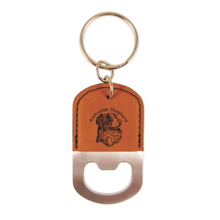 Australian Shepherd Head 2 Bottle Opener Keychain K1398