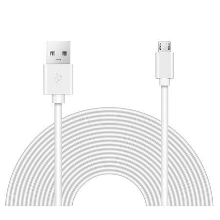 OMNIHIL (32FT) 2.0 High Speed USB Cable for LG Stylo 3 - WHITE