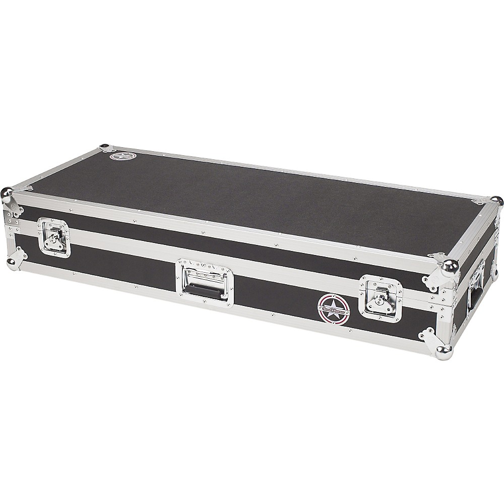 Road Runner Keyboard Flight Case with Casters Black 61 Key