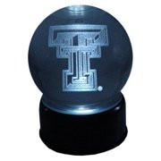 Texas Tech Red Raiders Logo Laser-Etched Musical Lit Crystal ball