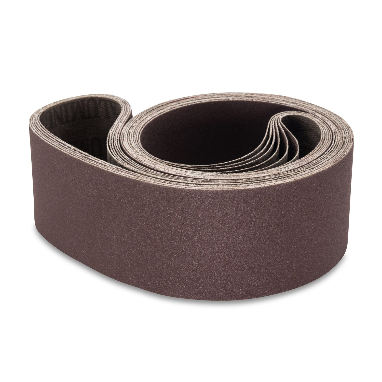 2 X 42 Inch Aluminum Oxide Metal Sanding Belts, 6 Pack by Red Label Abrasives