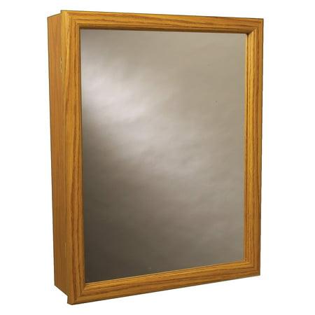 Zenith K16 Oak Framed Swing Door Mirrored Medicine Cabinet