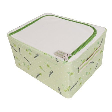 Home Fruit Print Foldable Clothes Cosmetics Storage Box Green 30cm x 23cm x 16cm - image 5 of 7