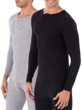Fruit of the loom SUPER VALUE 2 Pack Classic Thermal Henley Top