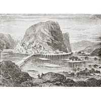 Potomac And Shenandoah At Harpers Ferry West Virginia America From The Gallery Of Geography Published London Circa 1872 Canvas Art - Ken Welsh  Design Pics (17 x 12)