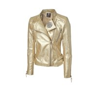"Official WWE Authentic Sasha Banks ""The Legit Boss"" Gold Replica Jacket Black Small"