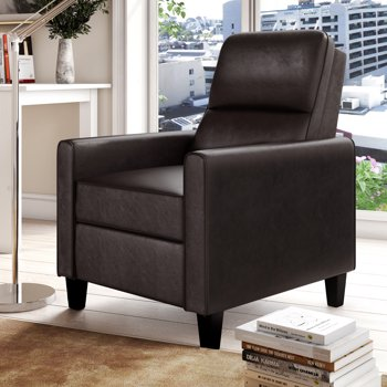 Lifestyle Solutions Aster Push Back Recliner Faux Leather