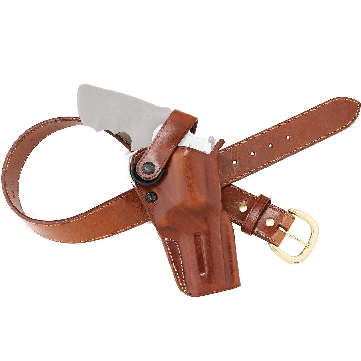 Galco DAO Belt Holster, Fits Taurus Judge, Right Hand, Tan Leather