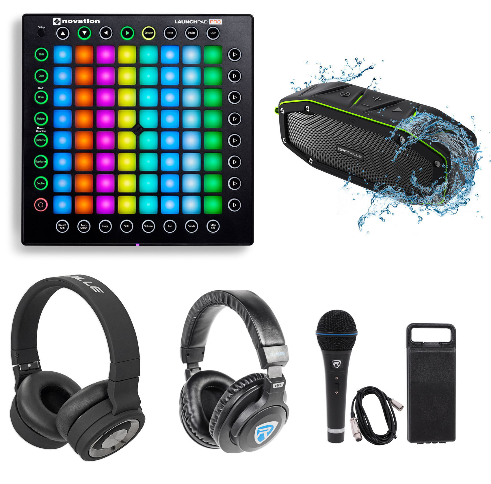 Novation Launchpad Pro USB MIDI RGB 64-Pad DJ Controller+Headphones+Speaker+Mic