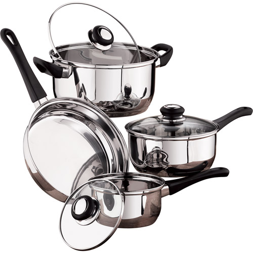 Mainstays 7-Piece Stainless Steel Cookware Set