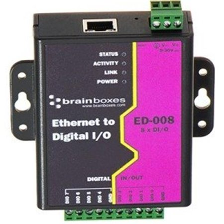 Ethernet to 8 Digital IO Lines  - 1 x Network