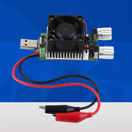 Greensen 35W DC 3V-21V Adjustable USB Electronic Load Battery Discharge Capacity Tester with Cooling Fan (Usb Load Tester)
