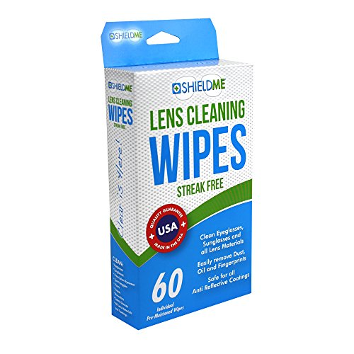 Shieldme 6060 Lens Cleaning Wipes, 60 ct