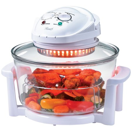 Rosewill R-HCO-15001 Infrared Halogen Convection Oven with Stainless Steel Extender Ring, 12.6-18 Quart, Healthy Low Fat