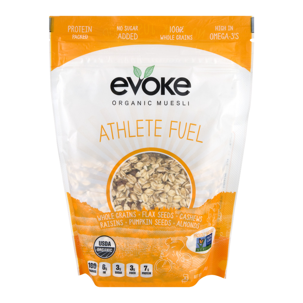 Evoke Organic Muesli Athlete Fuel, 12.0 OZ