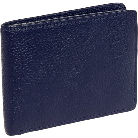 Ross Michaels New Mens Genuine Leather Flip Up Passcase Slimfold Bifold Wallet