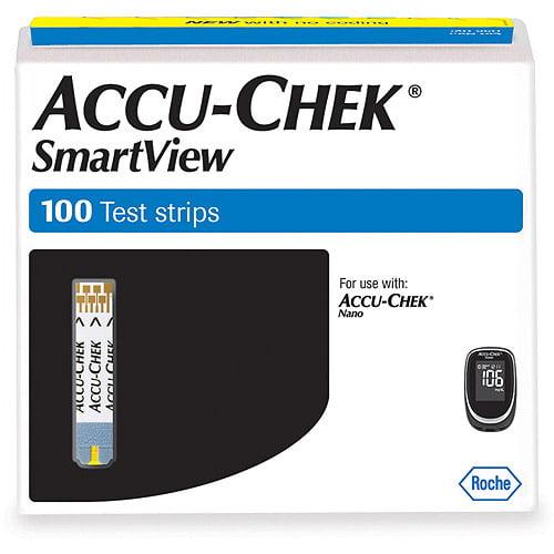 Accu-Chek SmartView Test Strips, 100 count