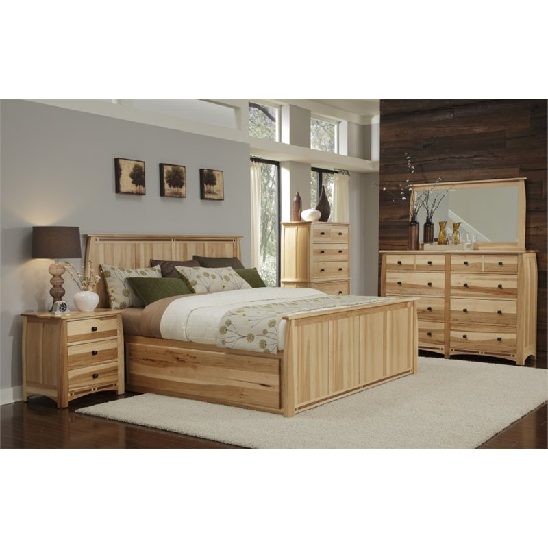 A-America Adamstown 6 Piece King Storage Bedroom Set in Natural by A-America
