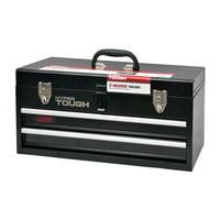 HyperTough Black 20 in. 2-Drawer Metal Tool Box