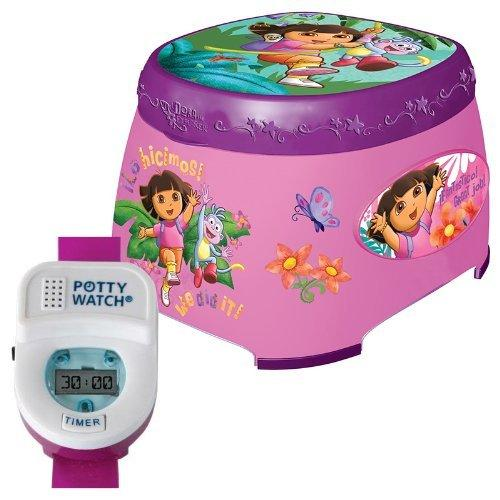 Ginsey Dora The Explorer 3-in-1 Potty Trainer with Potty Watch Timer Training Tool