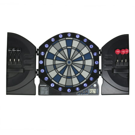 Bullshooter by Arachnid Illuminator 3.0 Electronic Dartboard and Cabinet with 13 LED Light Up (Arachnid Pine Electronic Dartboard Cabinet)