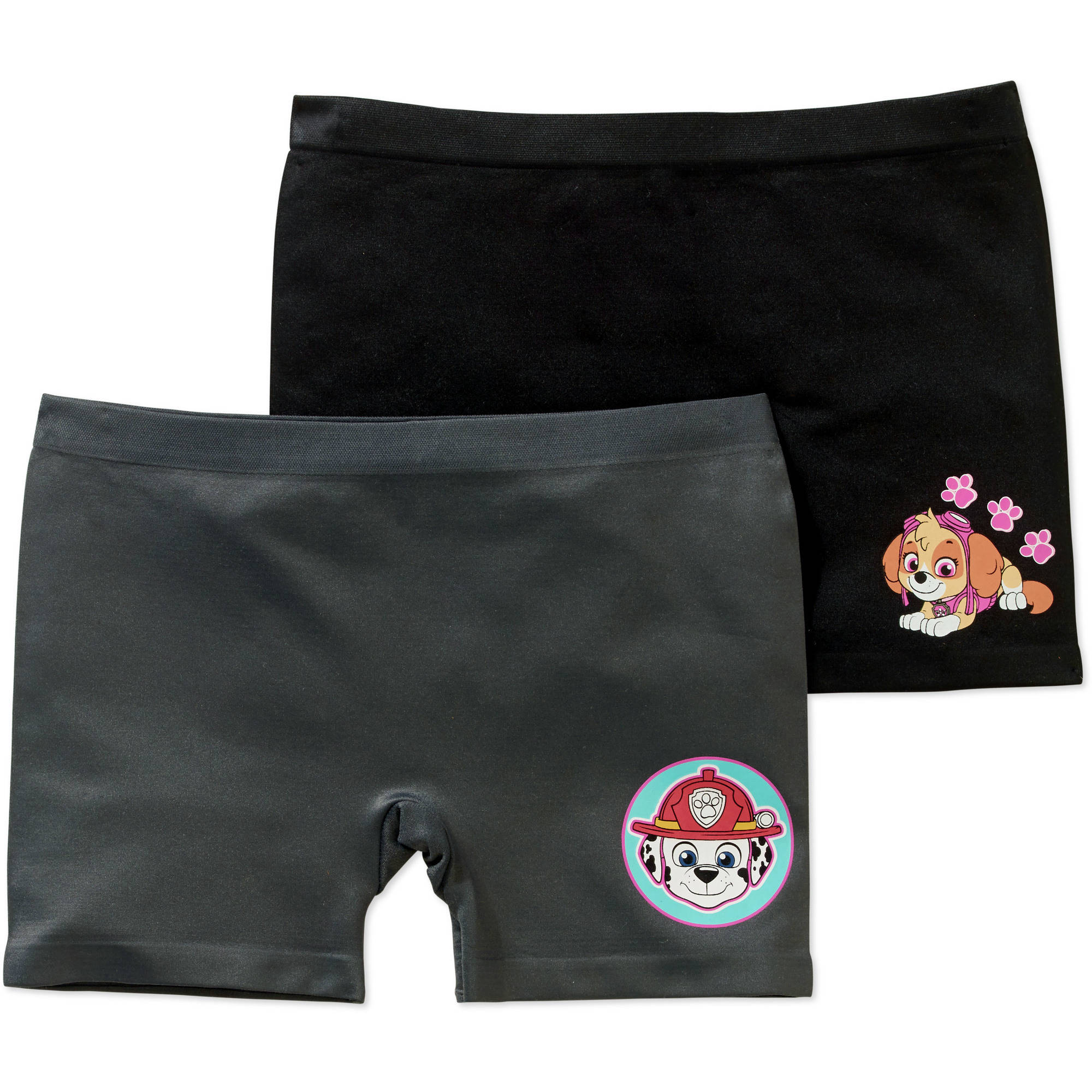 Paw Patrol Girls' Seamless Play Shorts 2 Pack