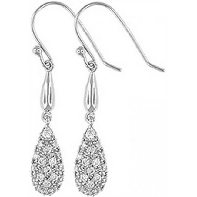 Doma Jewellery DJS02119 Sterling Silver (Rhodium Plated) Earring with CZ