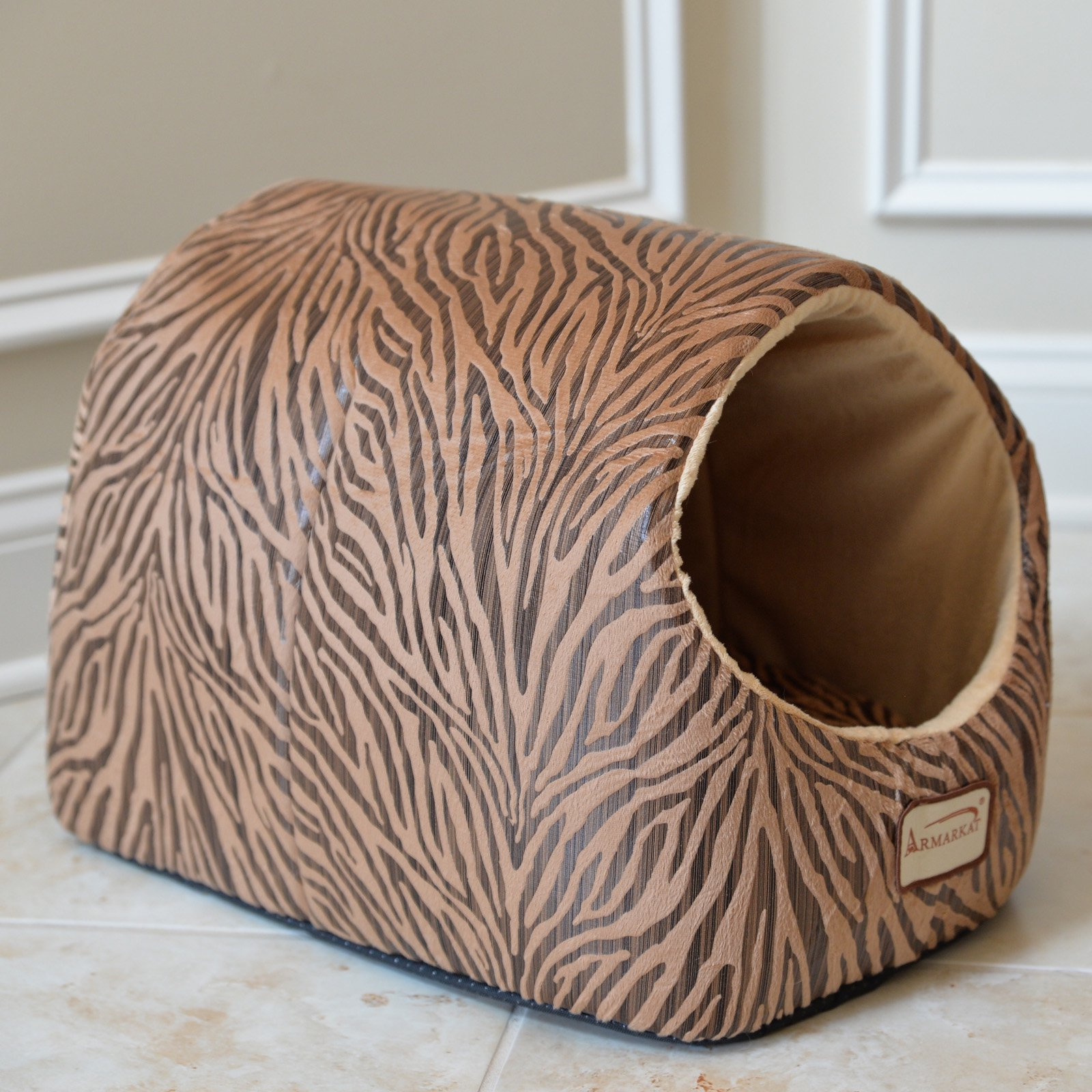 Armarkat Cat Bed, Bronzing and Beige, C11HBW/MH