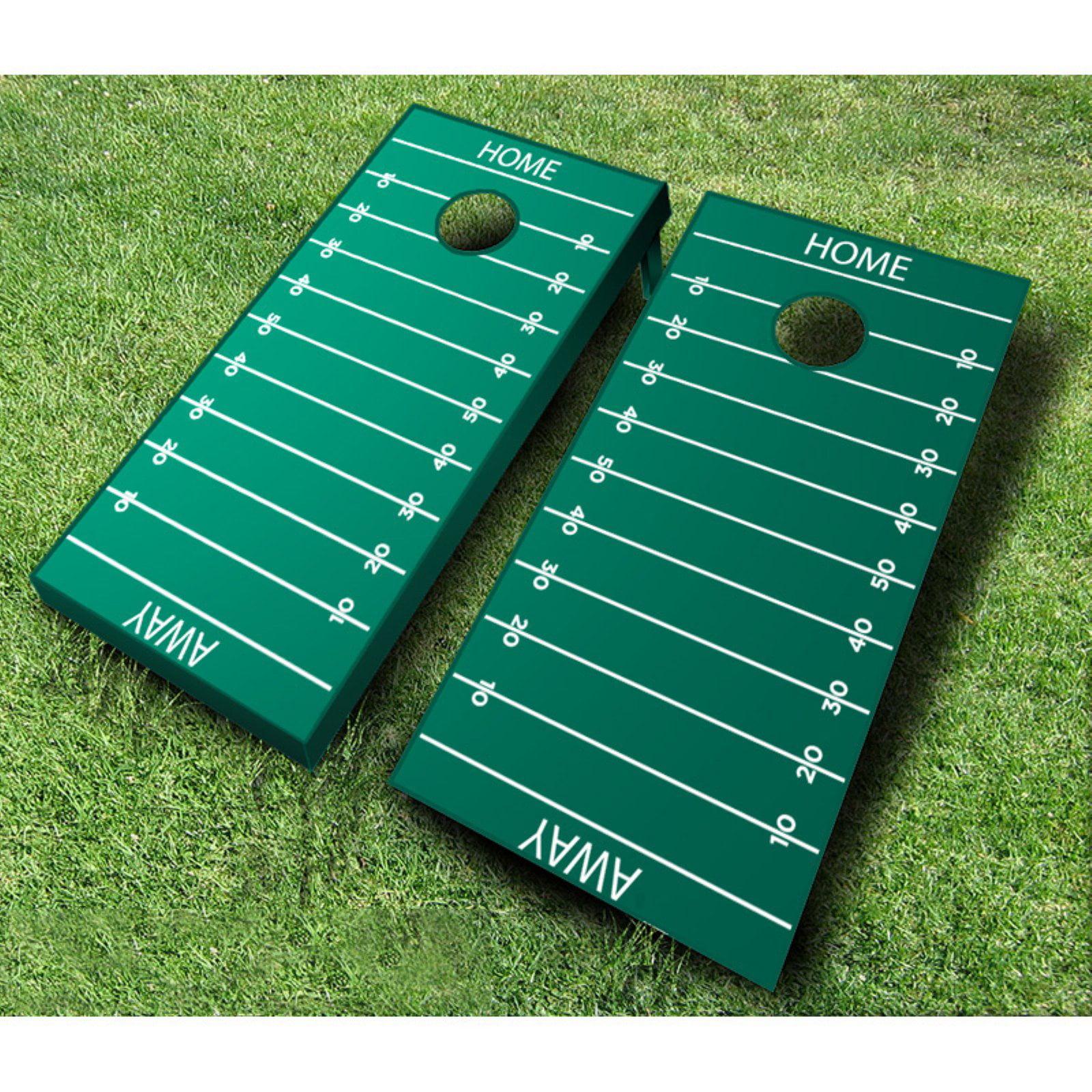 Football Field Tournament Cornhole Set