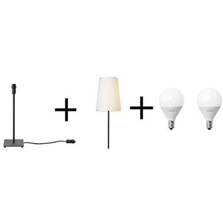 Ikea Table Lamp Base Led Bulb E12 200 Lumen Globe Opal And