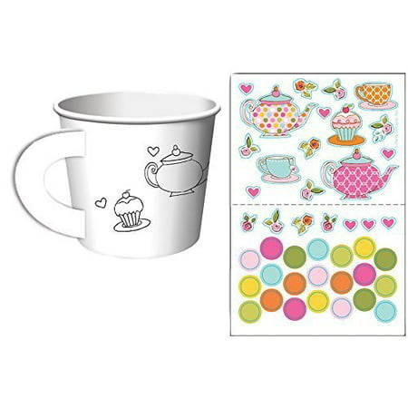 Tea Time Tea Party Decorate Your Own Favor Cups (6 ct) Couple Kissing Cups Tea Favors