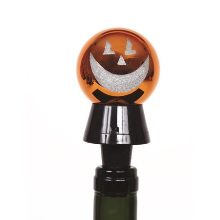 Light Up Halloween Jack O Lantern Laser Cut 4 Inch Bottle Topper ()