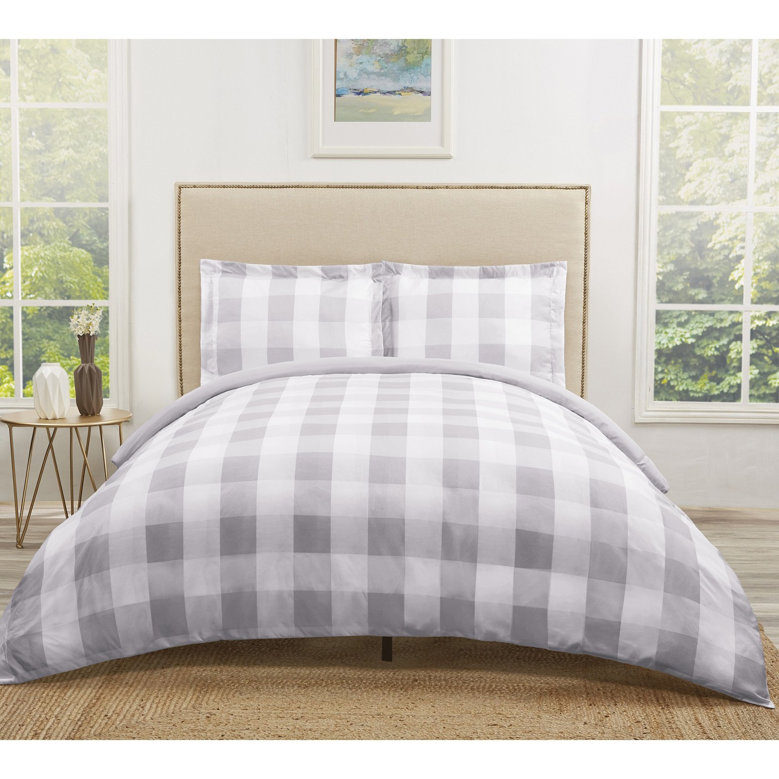 Truly Soft Everyday Buffalo Plaid Khaki Twin XL Duvet Set