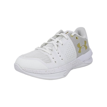 Best Volleyball Shoes - Under Armour Women's Block City White Ankle-High Volleyball Shoe - 5M
