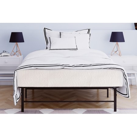 various colors 2bfb4 18662 Mainstays 10 inch Memory Foam Mattress & Metal Platform Bed ...