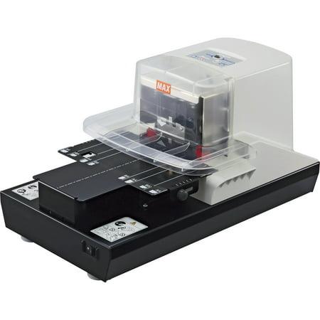 MAX, MXBEH110F, Electronic Stapler, 1 Each, Black,White