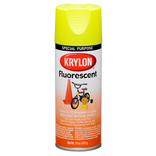Krylon Fluorescent Paint, Lemon Yellow
