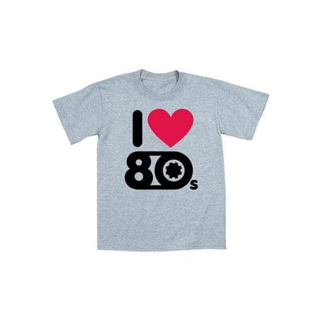 I Heart 80s Party Nostalgic Retro Novelty Cassette Cool Swag Retro Mens T-Shirt](I Heart The 80s Shirt)