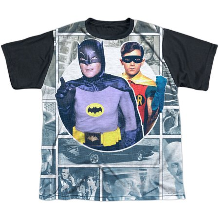 Batman Men's  60s Panels Sublimation T-shirt White](60s Mens Clothes)