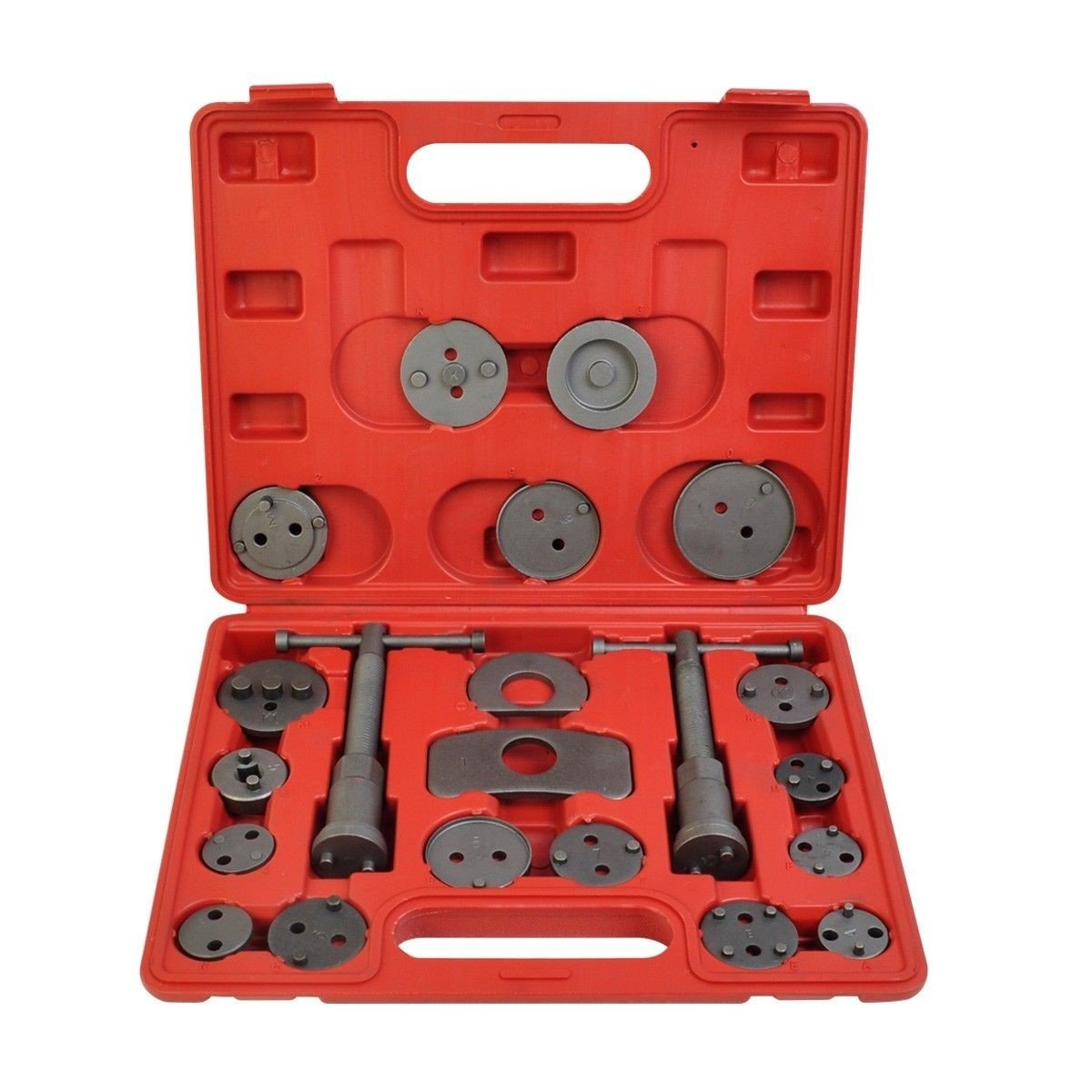 22pc Universal Caliper Tool Kit Case Wind Back Disc Brake Pad Piston Compressor