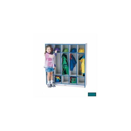 2681JCWW005 Rainbow Accents 5 Section Coat Locker - 50.5