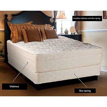 "Beverly Hills Firm Foam Encased Eurotop (Pillow Top) Mattress and Box spring set (Twin 39""x75""x13"") Sleep System with Enhance Support- Fully Assembled, Knit Cover, Orthopedic by Dream Solutions USA"
