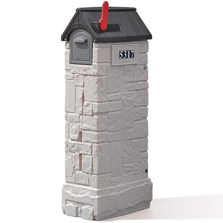 Step2 MailMaster StoreMore Outdoor Plastic Mailbox in Gray Finish ()
