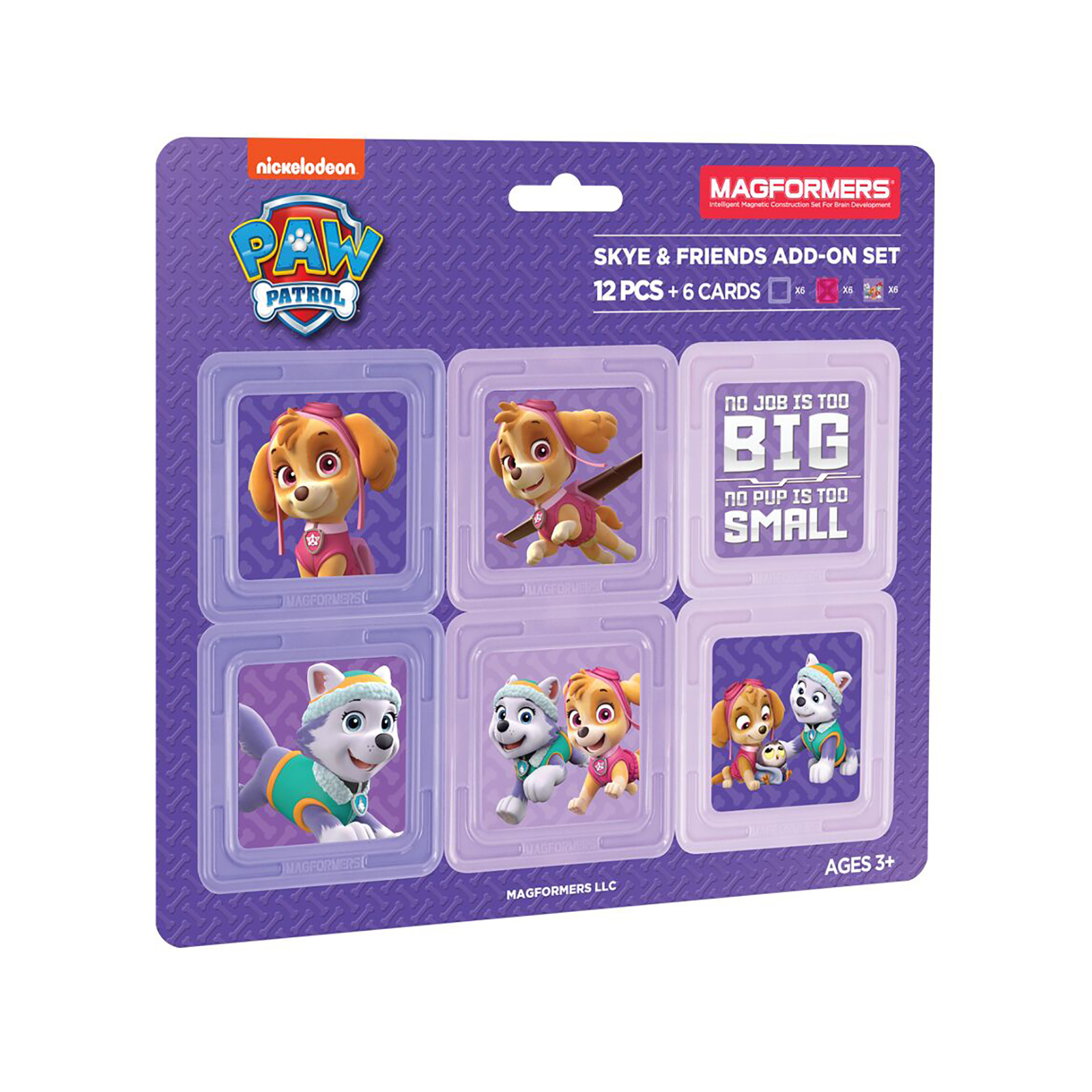 Magformers Paw Patrol 12 Piece Skye & Friends Add-On Magnetic Construction Set