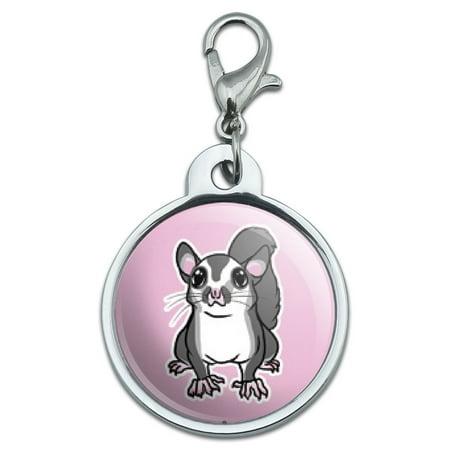 - Sugar Glider on Pink Small Metal ID Pet Dog Tag