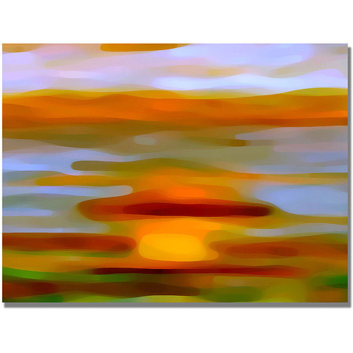 "Trademark Fine Art ""Colorful Reflections Horizontal"" Canvas Wall Art by Amy Vangsgard"