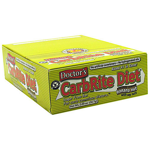 Doctor's CarbRite Diet Bar, Banana Nut , 21g Protein, 12 Ct