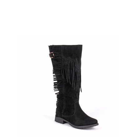 Nature Breeze Women's Knee High Fringe Boots