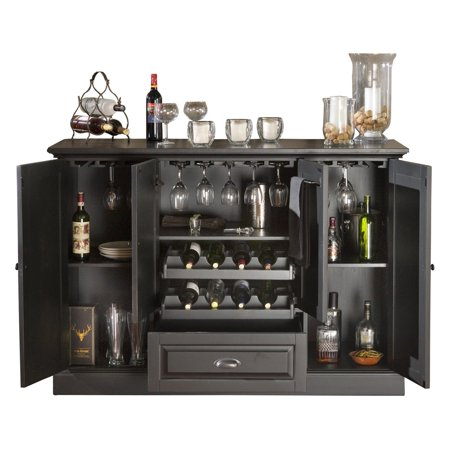 American Heritage Carlotta Wine Spirit Bar Antique Black